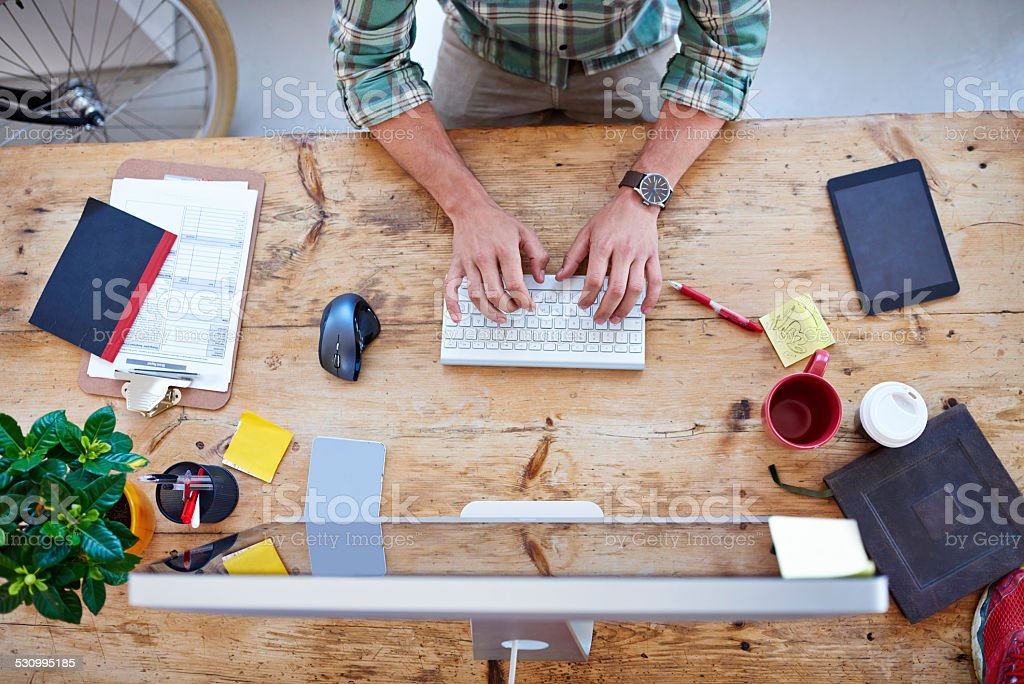 Creative professional at work stock photo