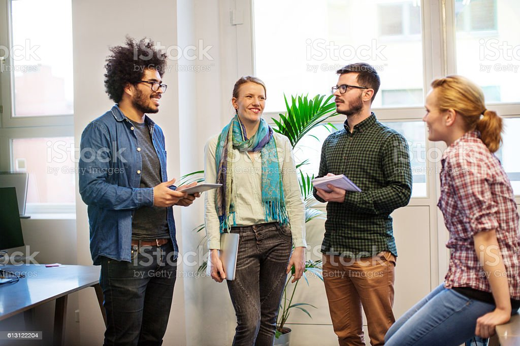 Creative professional having a meeting at startup office