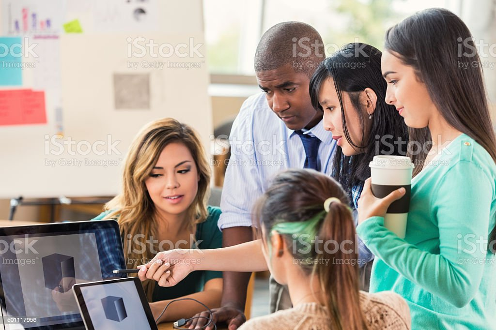 Creative Professional Team Brainstorming Ideas Royalty Free Stock Photo