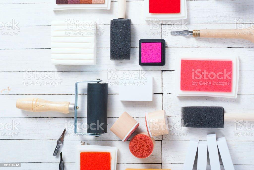 DIY creative project tools royalty-free stock photo