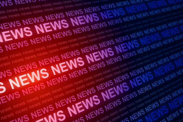 Creative red news background stock photo