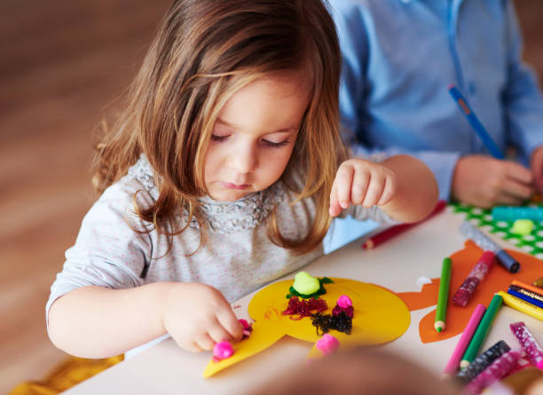 Creative since her early age Creative since her early age craft stock pictures, royalty-free photos & images