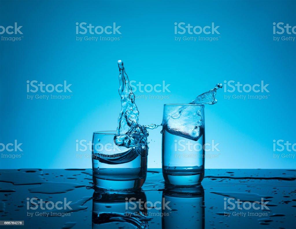 Creative splashing water in the glass foto stock royalty-free