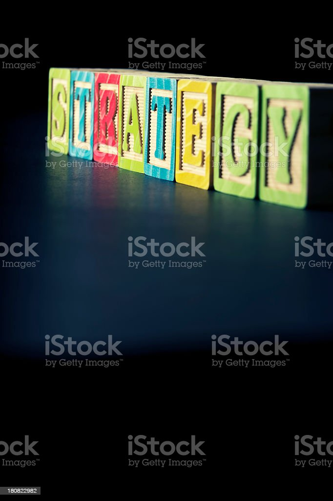 Creative strategy concept with blocks royalty-free stock photo