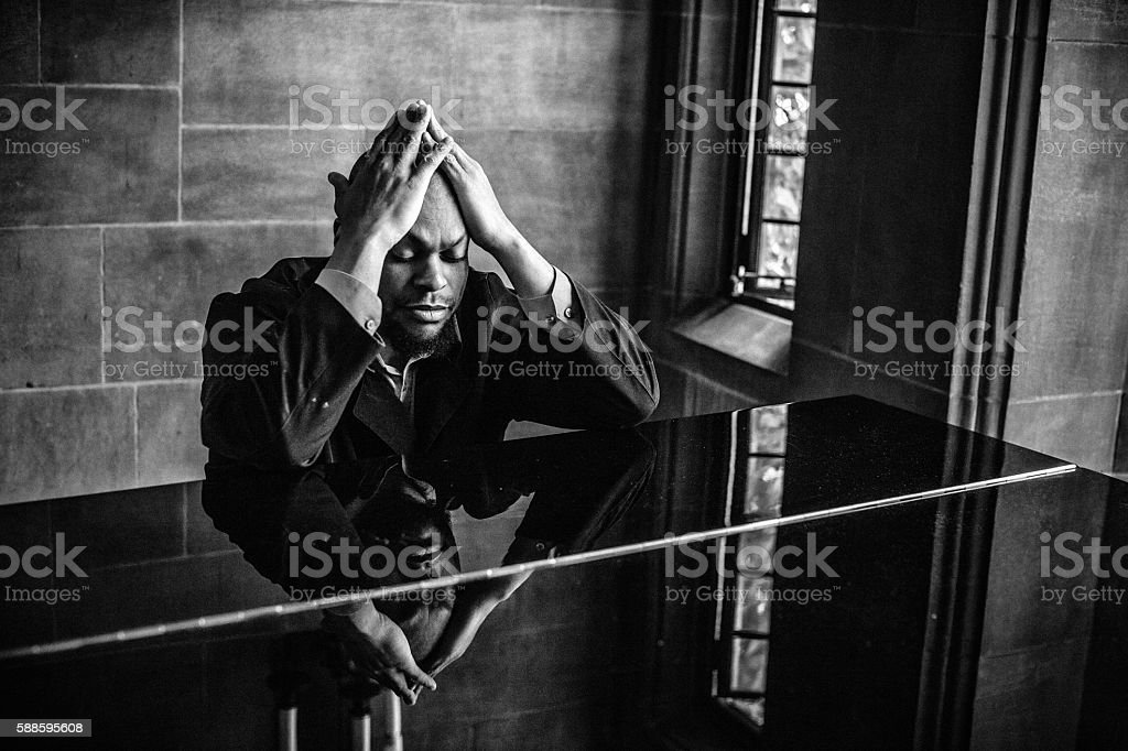 Creative struggle stock photo