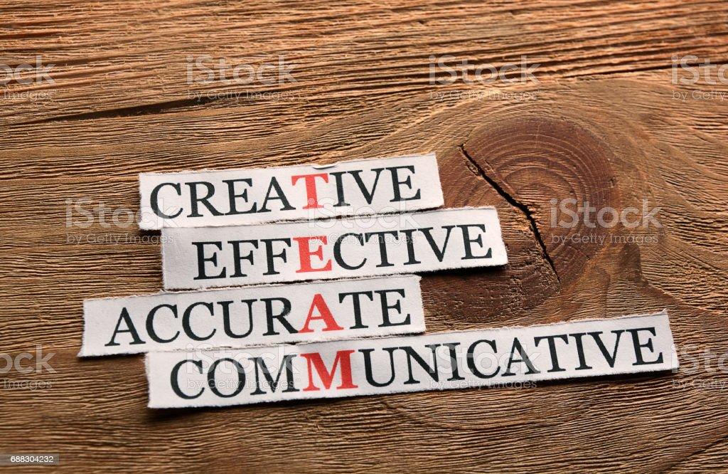 creative team  acronym stock photo