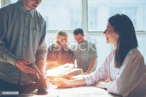 639637280istockphoto Creative team brainstorming. Digital plan researching 639635698