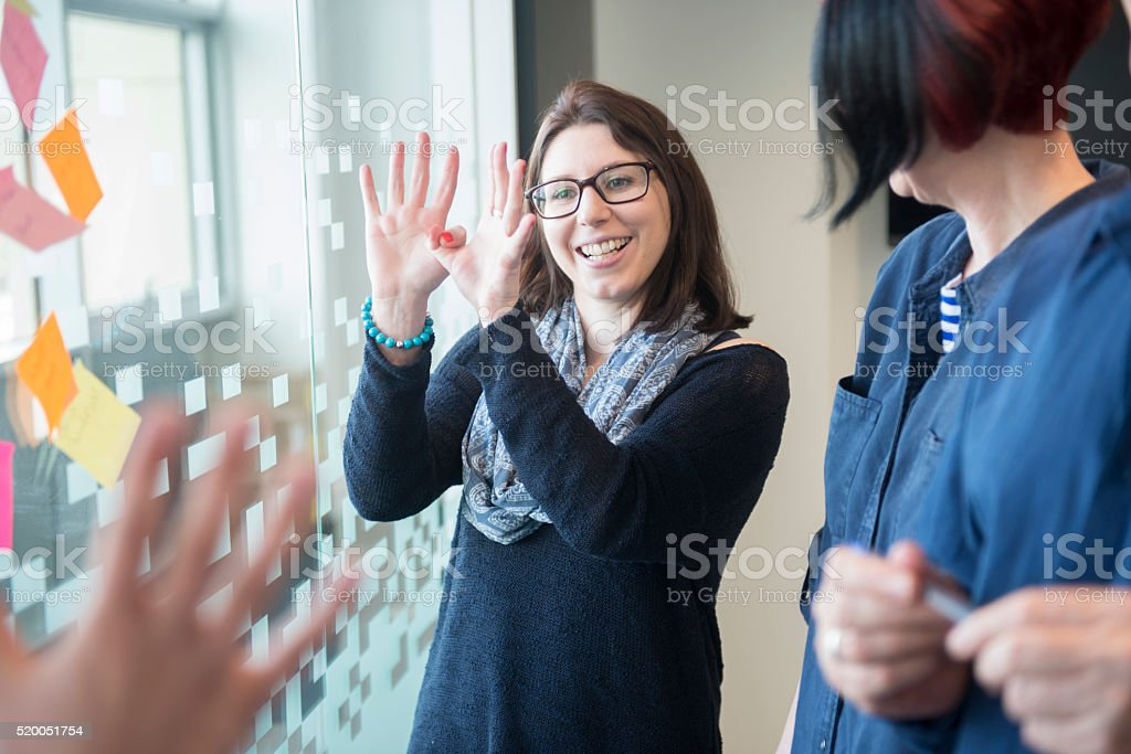 Creative team in office stock photo