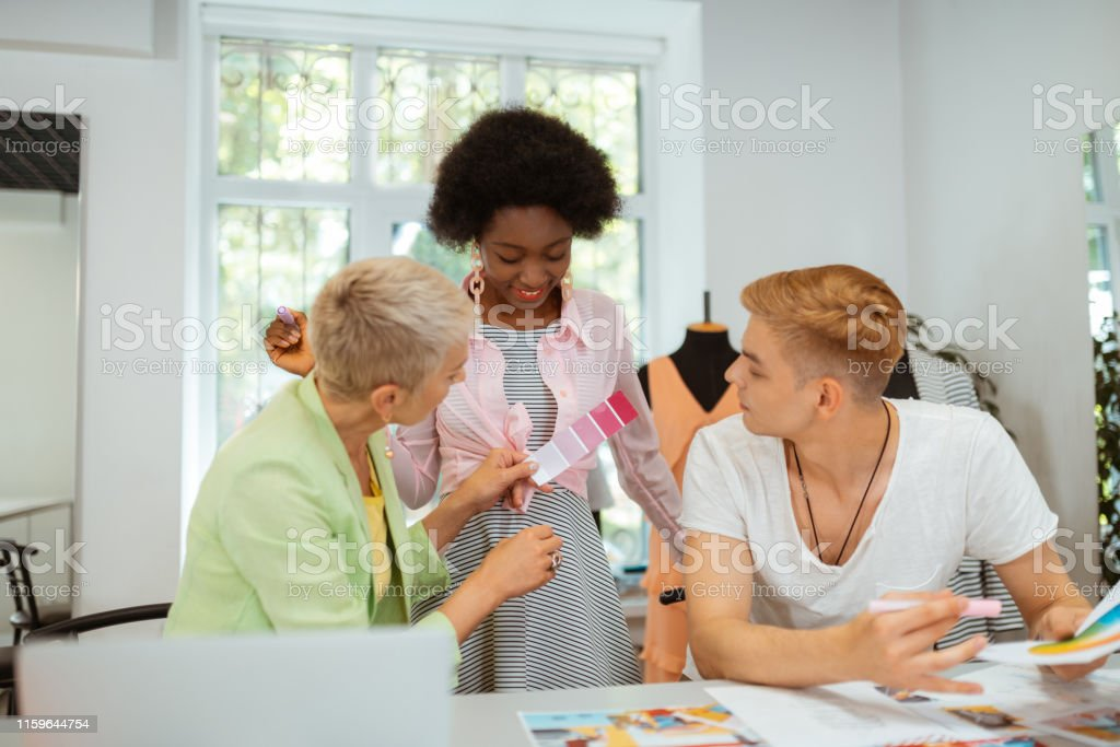 Creative Team Of Professional Fashion Designers Sitting Indoors Stock Photo Download Image Now Istock