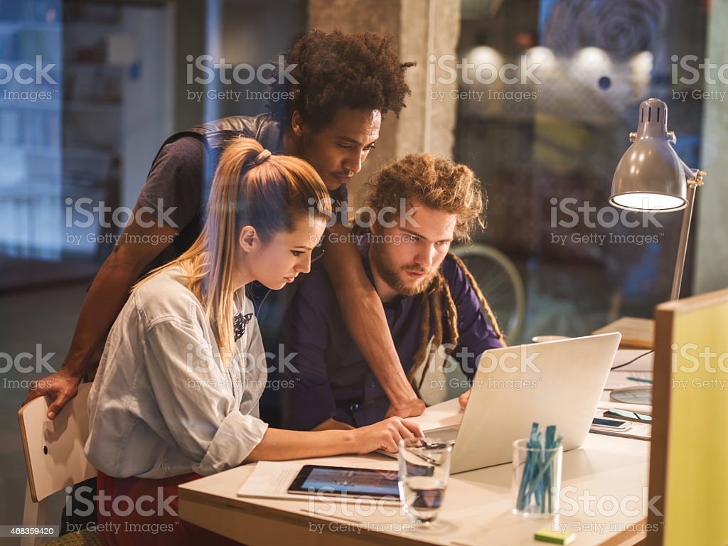 Creative team using computer in the office. royalty-free stock photo