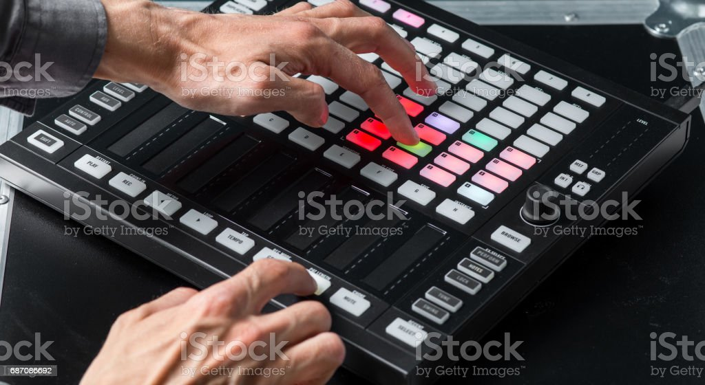 Creative Technology, Work with Music Equipment stock photo