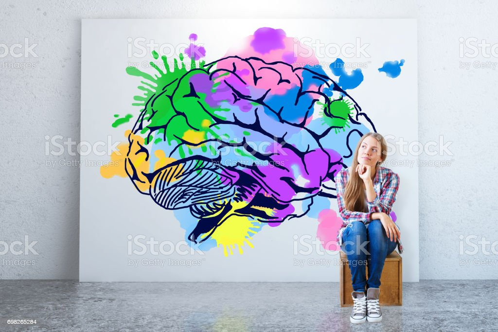 Creative thinking concept stock photo