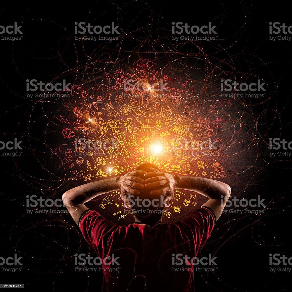 Pensamento criativo Rabisco - foto de acervo
