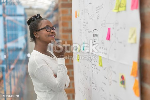 639428672istockphoto Creative woman drawing a business plan 522303278