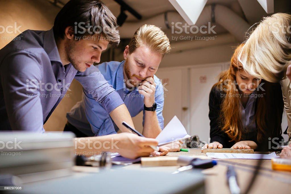 Creative workers designing and planing royaltyfri bildbanksbilder