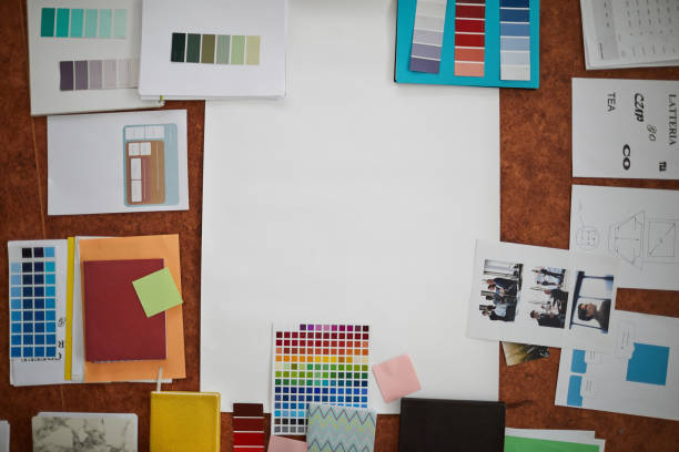 local de trabalho criativo - mood board - fotografias e filmes do acervo