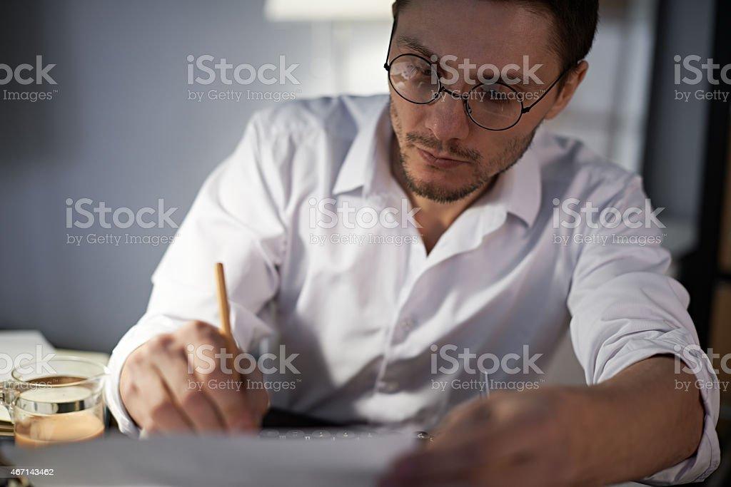 Creative writing stock photo
