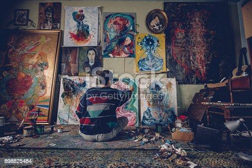 865169666 istock photo Creative Young Artist 898825484