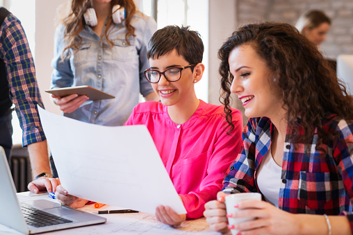 Creative Young Business People And Architects Working In Office Stock Photo  - Download Image Now - iStock