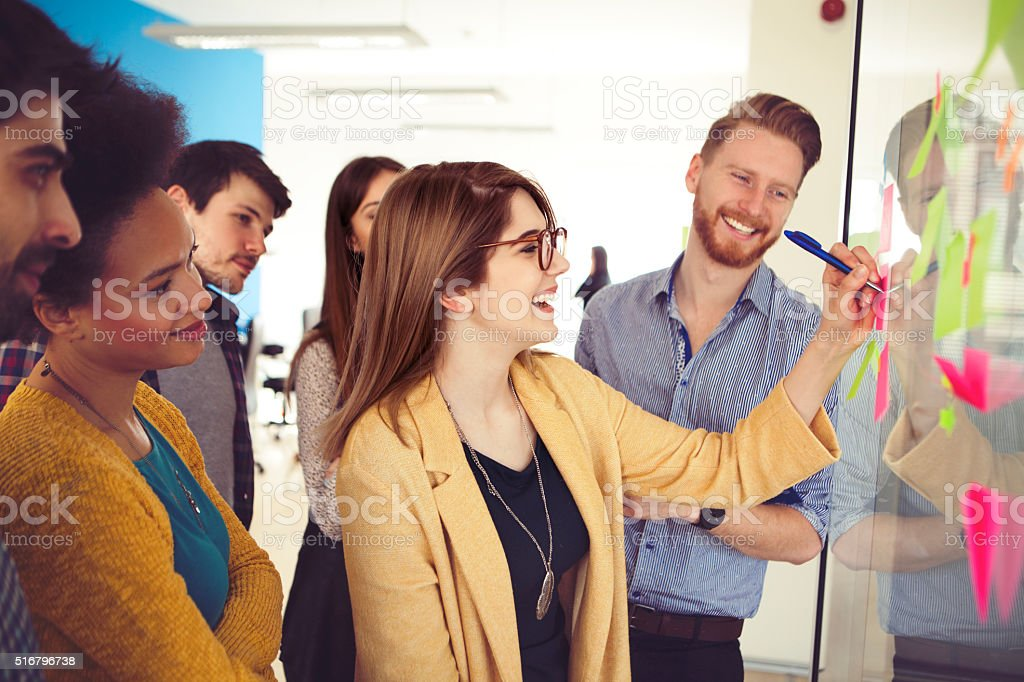 Creative young people stock photo