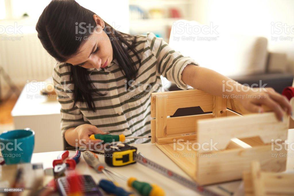 Kreative junge Frau – Foto