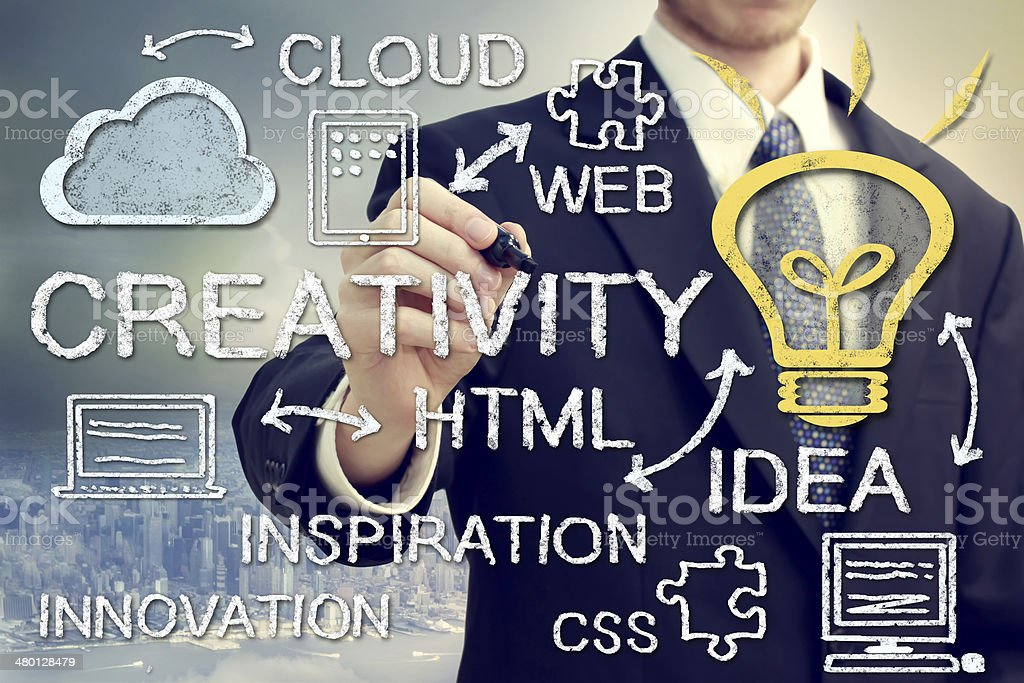 Creativity and Cloud Computing Concept royalty-free stock photo
