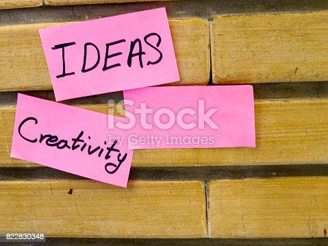 858413274 istock photo Creativity and Ideas 822830348