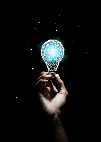 istock Creativity and innovative are keys to success.Concept of new idea and innovation with light bulbs. 1007367156