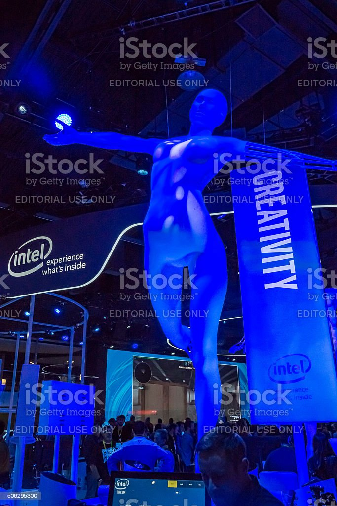 Creativity at CES 2016 stock photo