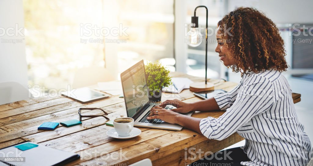 Creativity? Checked! stock photo