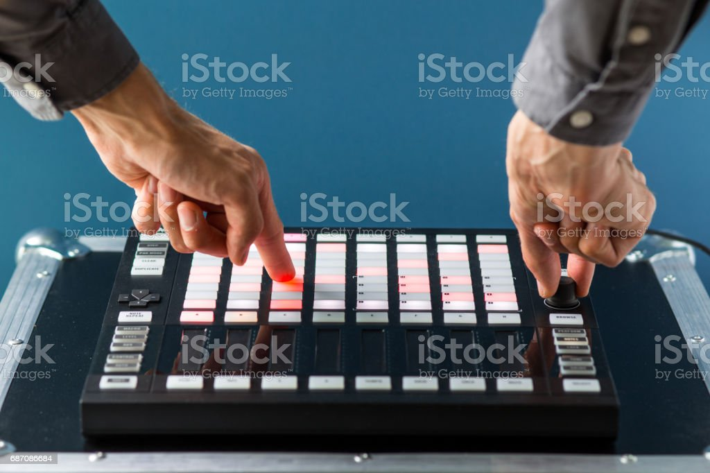 Creativity Concept, Work with Music Controller stock photo