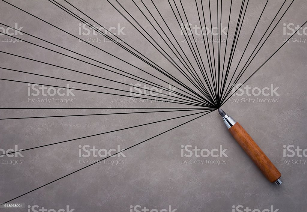 creativity ideas concept with drwing line stock photo