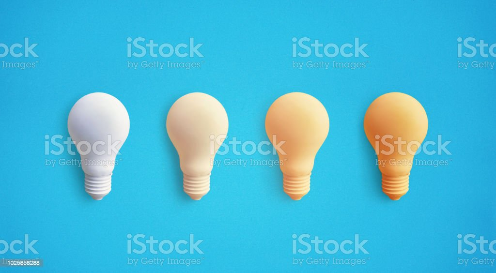 Creativity inspiration concepts with lightbulb on pastel color...