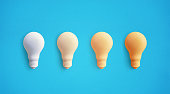 istock Creativity inspiration concepts with lightbulb on pastel color background.Business solution,planning ideas 1025858288