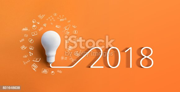 istock 2018 creativity inspiration concepts with lightbulb.Business idea 831648638