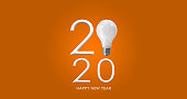 istock 2020 creativity inspiration concepts with text number and lightbulb on color background 1188038246