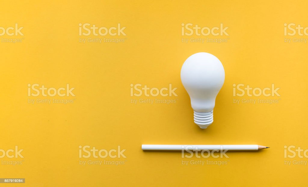 Creativity inspiration,ideas concept with lightbulb