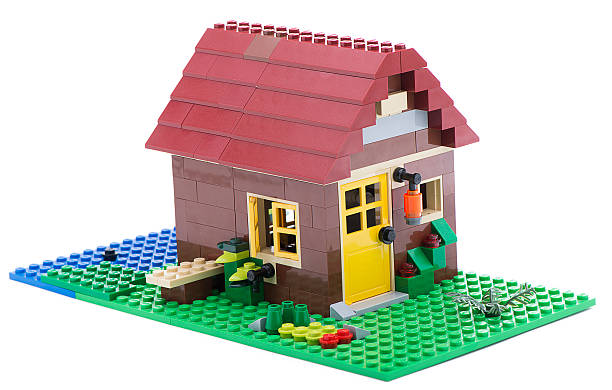 lego creator house - lego house stock photos and pictures