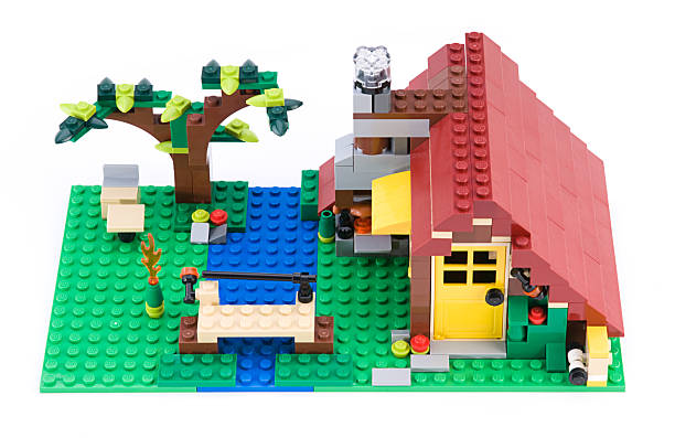 lego creator - lego house stock photos and pictures