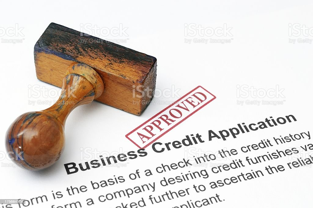Credit application - approved royalty-free stock photo