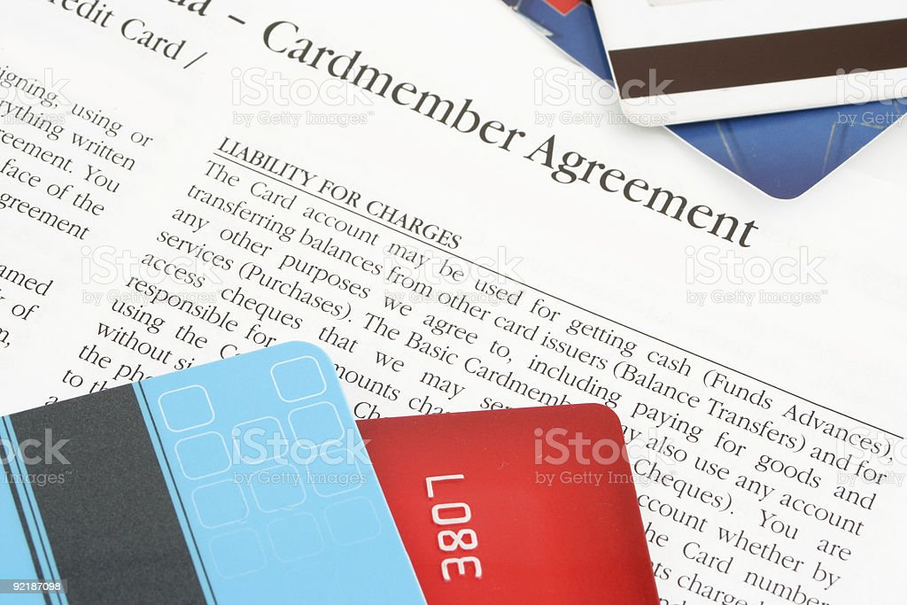 Credit Card Agreement Stock Photo More Pictures Of Agreement Istock
