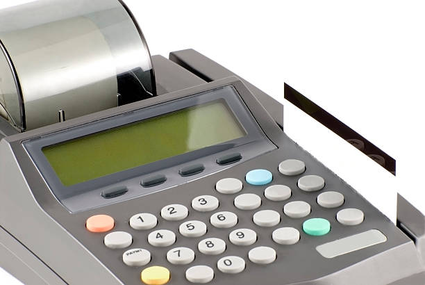 Credit Card and Machine stock photo