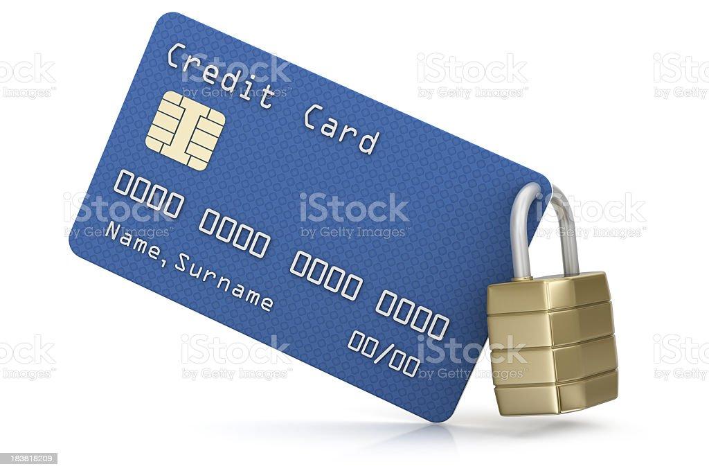 Credit Card and Padlock royalty-free stock photo