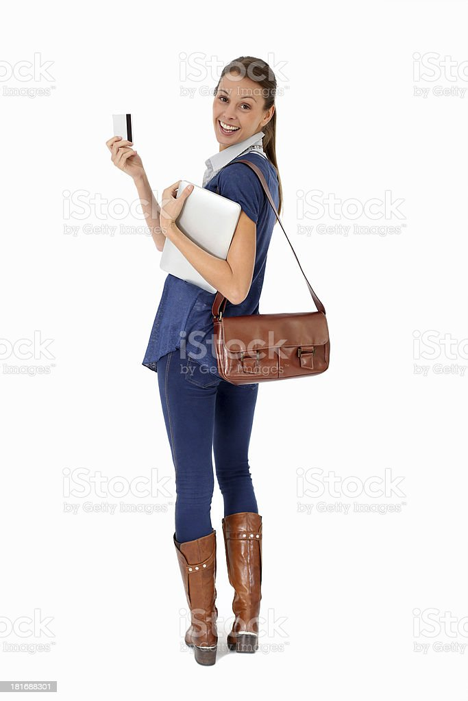 Credit card and tablet are best tools for shopping online royalty-free stock photo