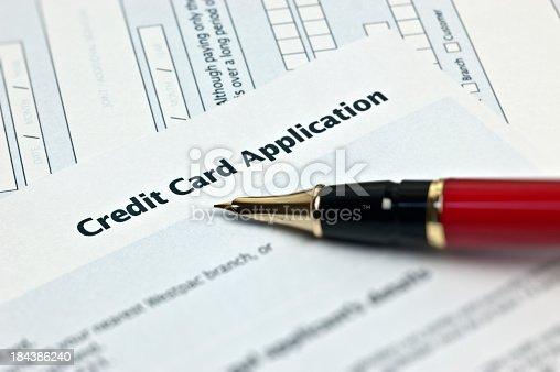 istock Credit Card Application 184386240