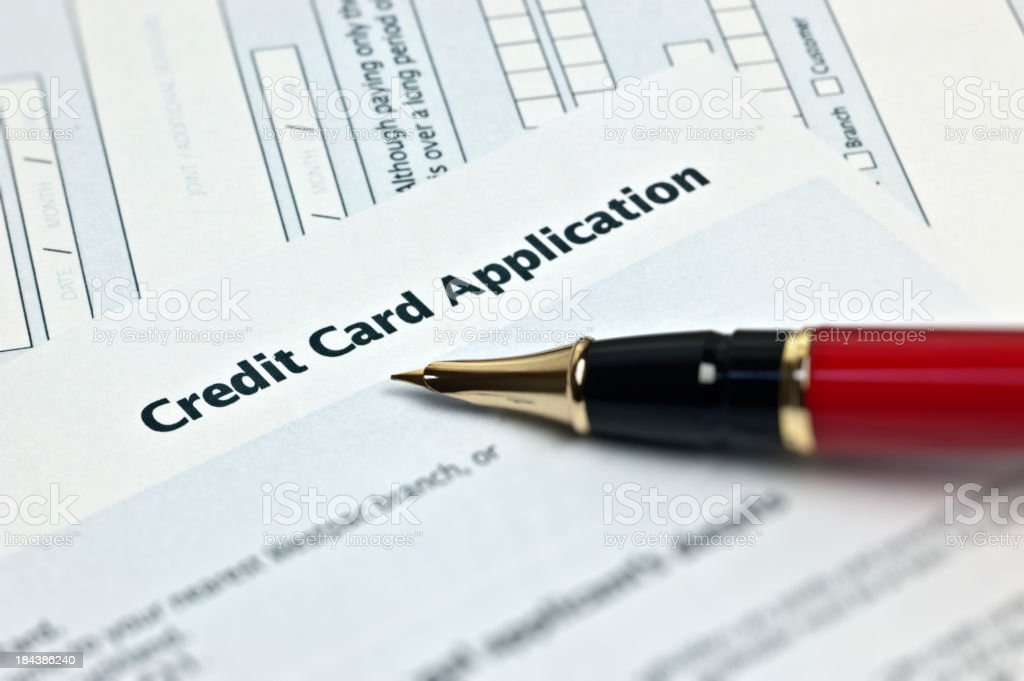 Credit Card Application stock photo