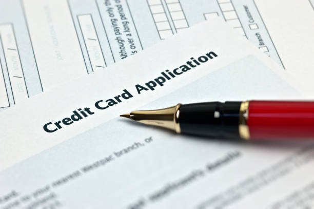 Credit Card Application Credit Card Application application form stock pictures, royalty-free photos & images