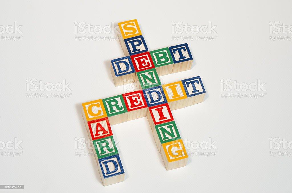 Credit Card Blocks royalty-free stock photo