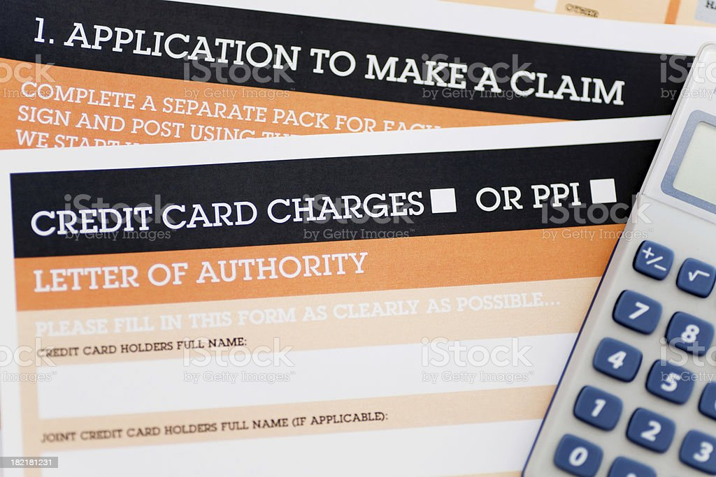 Credit card charges royalty-free stock photo