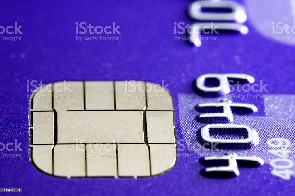 Credit card chip royalty-free stock photo